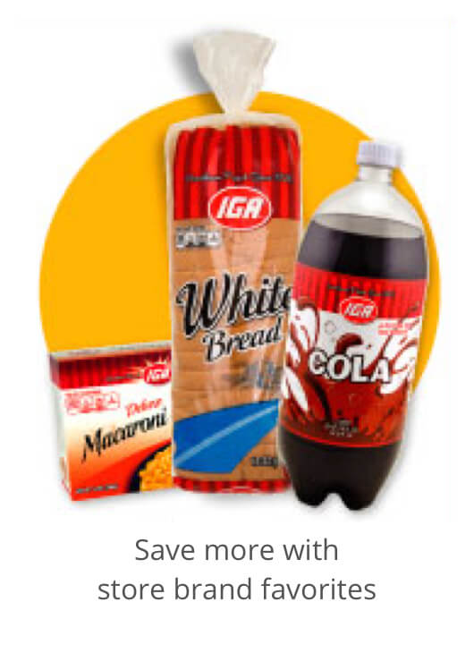 Save more with store brand favorites